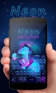 Neon Jelly GO Keyboard Theme poster