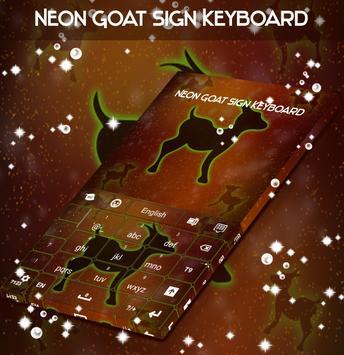 Neon Goat Sign Keyboard apk screenshot