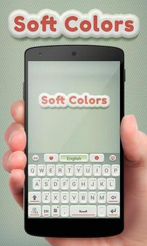 Soft Colors GO Keyboard Theme poster
