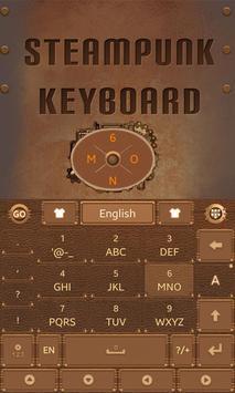 Steam Punk GO Keyboard Theme apk screenshot