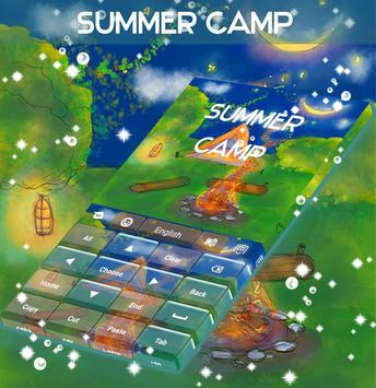 Summer Camp Keyboard apk screenshot