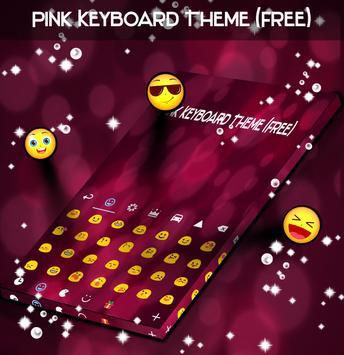Pink Keyboard Theme (Free) poster