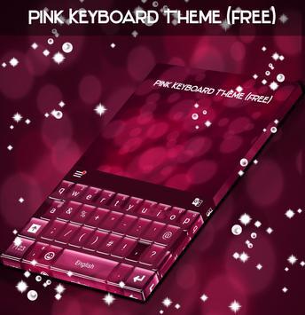 Pink Keyboard Theme (Free) apk screenshot