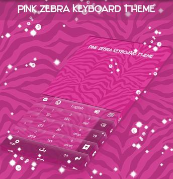Pink Zebra Keyboard Theme apk screenshot