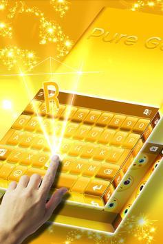 Pure Gold Keyboard apk screenshot