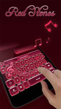 Red Stones GO Keyboard Theme apk screenshot