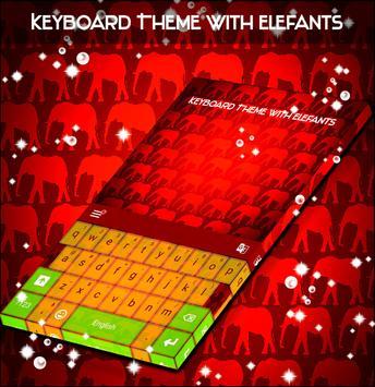 Keyboard Theme with Elefants screenshot 3