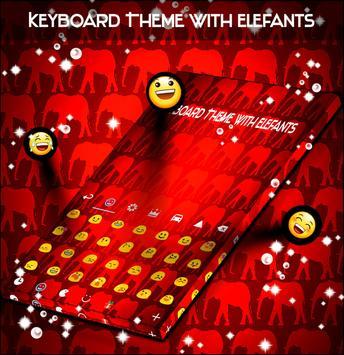 Keyboard Theme with Elefants screenshot 2