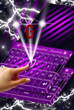 Violet Free Theme for Keyboard screenshot 2