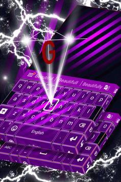 Violet Free Theme for Keyboard screenshot 3