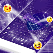 Violet Print Keyboard icon