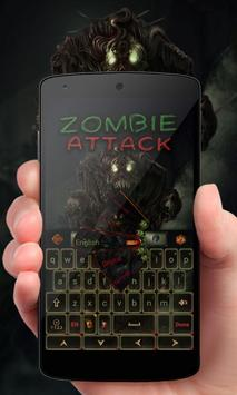Zombie Attack Keyboard Theme poster