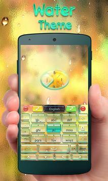 Water GO Keyboard Theme Emoji poster