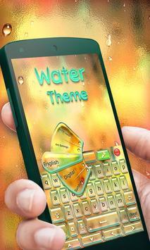 Water GO Keyboard Theme Emoji apk screenshot