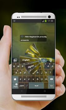 Alien Yellow GO Keyboard apk screenshot