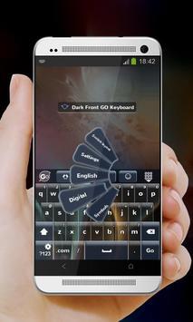 Dark Front GO Keyboard screenshot 2