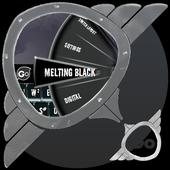 Melting Black GO Keyboard icon