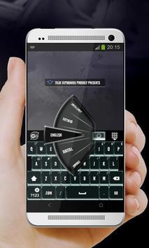 Melting Black GO Keyboard apk screenshot