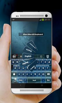 Silent Blue GO Keyboard apk screenshot
