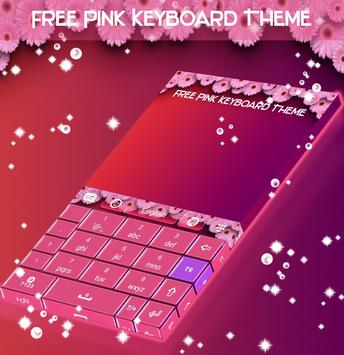 Free Pink Keyboard Theme apk screenshot