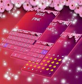 Free Pink Keyboard Theme poster