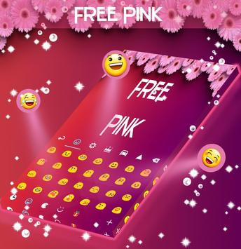 Free Pink Keyboard Theme apk screenshot