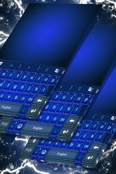 Vivid Blue Keyboard For Sony poster