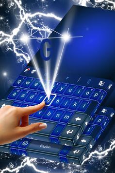 Vivid Blue Keyboard For Sony apk screenshot