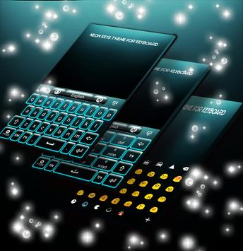 Neon Keys Theme for Keyboard apk screenshot