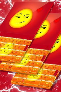 Naughty Emoji Keyboard Theme poster