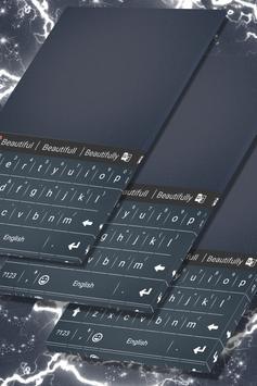 Simple Steel Keyboard Theme poster