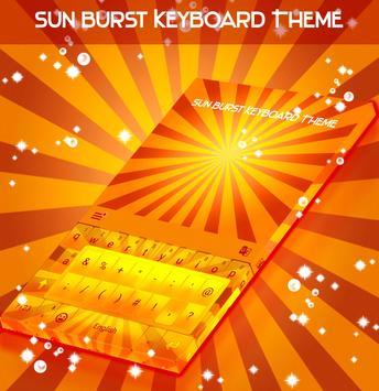 Sun Burst Keyboard Theme poster