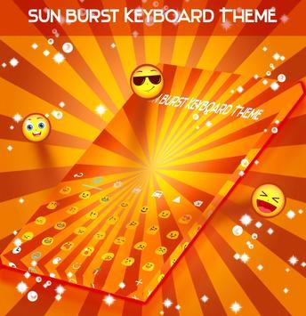 Sun Burst Keyboard Theme screenshot 1