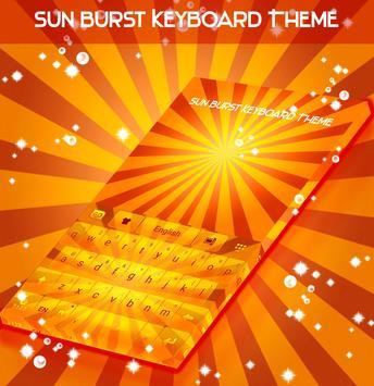Sun Burst Keyboard Theme screenshot 3