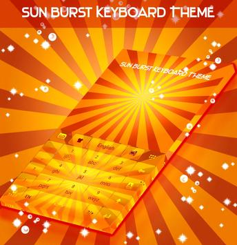 Sun Burst Keyboard Theme screenshot 4