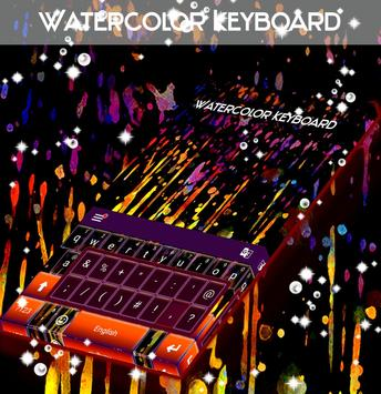 Watercolor Keyboard poster