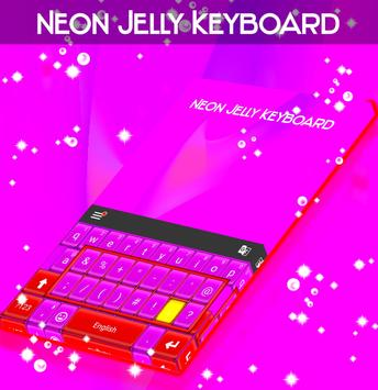 Neon Jelly Keyboard poster