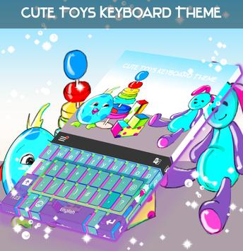 Cute Toys Keyboard Theme poster