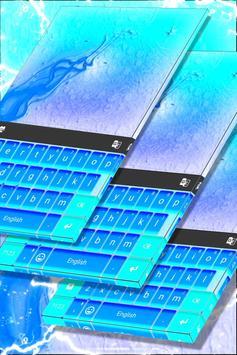 Neon Blue Theme Keyboard poster