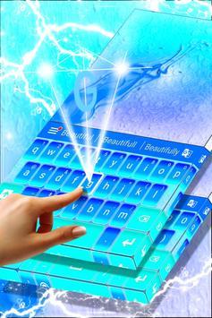 Neon Blue Theme Keyboard apk screenshot