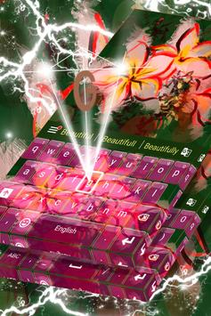 Asian Flowers Keyboard Theme apk screenshot