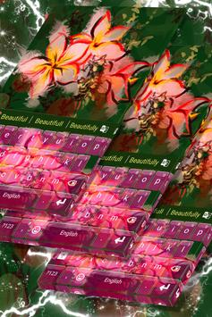 Asian Flowers Keyboard Theme poster