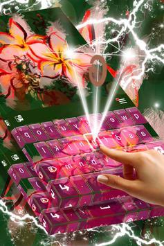 Asian Flowers Keyboard Theme screenshot 1