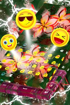 Asian Flowers Keyboard Theme screenshot 4