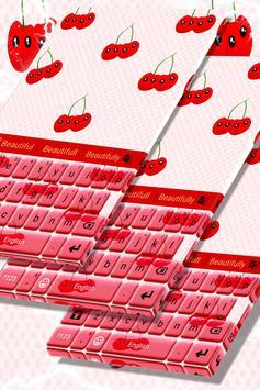 Cherry Keyboard Theme poster