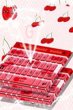 Cherry Keyboard Theme apk screenshot