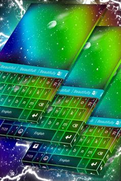 Colorful Space Keyboard poster