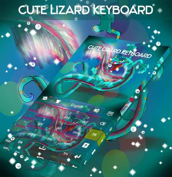 Cute Lizard Keyboard apk screenshot