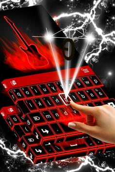 Flames Neon Keyboard screenshot 1