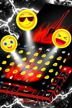 Flames Neon Keyboard screenshot 4